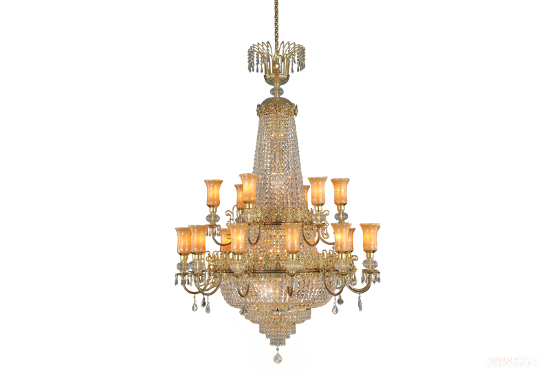 CH 27007-18 OCTAGONS GOLD PATINA GLASS SHADE